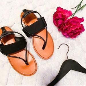 & Other Stories Black Slide Sandals
